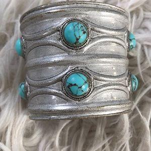 NWT Lucky brand semi precious stone cuff